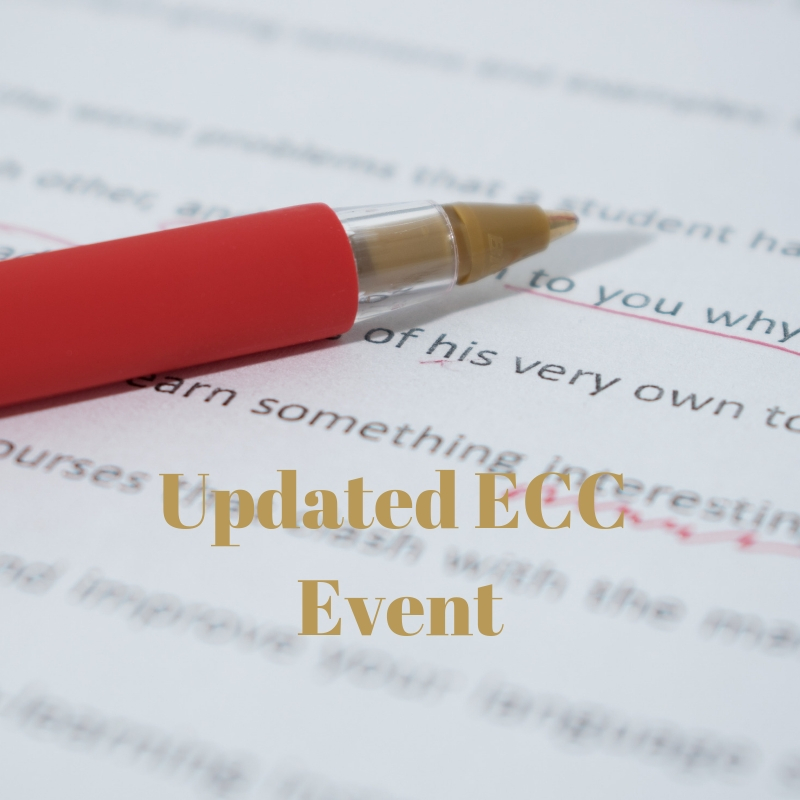 Correction: ECC Chapter Meeting, Awards and Pro-Pro