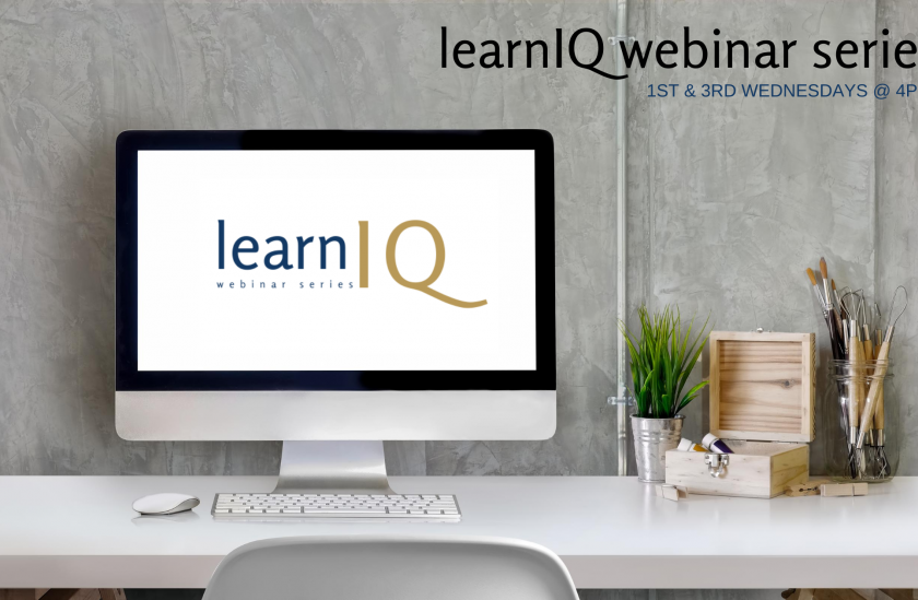 learnIQ webinar series topics